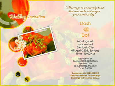 10 Free Designs Wedding Invitation Templates antzFxWay – Invitation Card Design Online Free