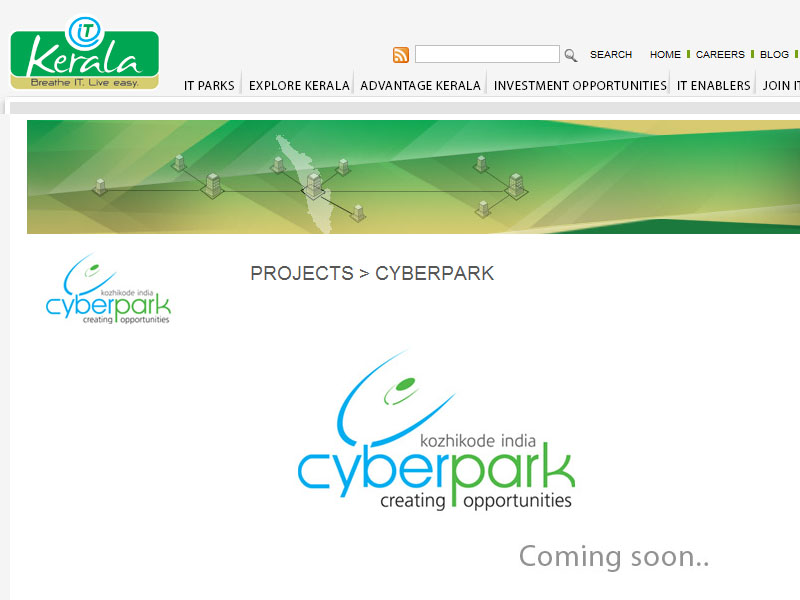 My logo of CyberPark Kozhikode in IT Kerala website