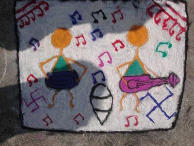 Music, street art by Ashveen