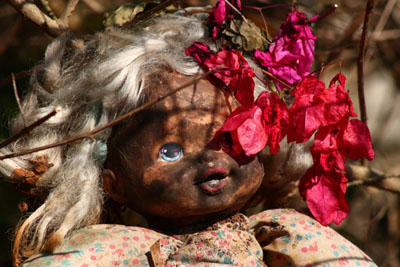 old doll, flowers: by Ashveen