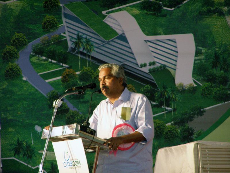 Keynote Address : Sri. Binoy Viswam at CyberPark