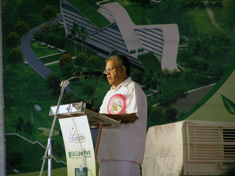 Sri. M Bhaskaran, Mayor of Kozhikode at CyberPark