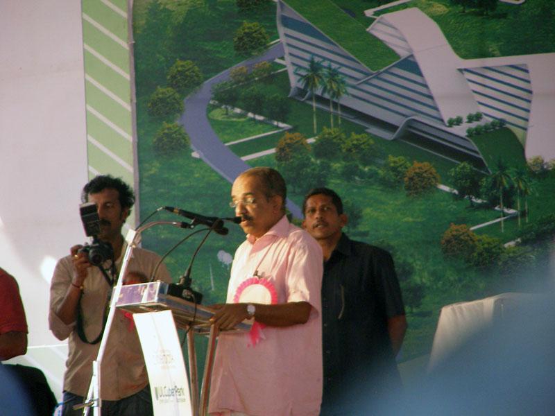 Welcome Speech : Sri. A Pradeep Kumar MLA at CyberPark