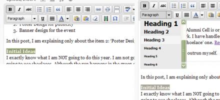 Proper Formatting using HTML tags