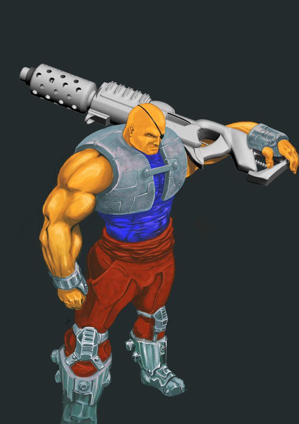 Gunner character design by Pankaj