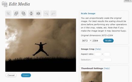 Resize Image in WordPress