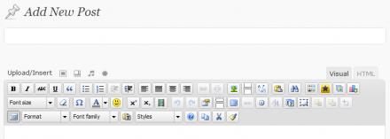 TinyMCE Advanced WordPress Plugin Button Arrangement in a New Post