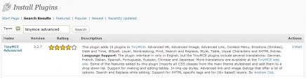 TinyMCE Advanced WordPress Plugin Installation