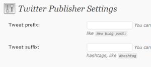 Twitter publisher wordpress plugin