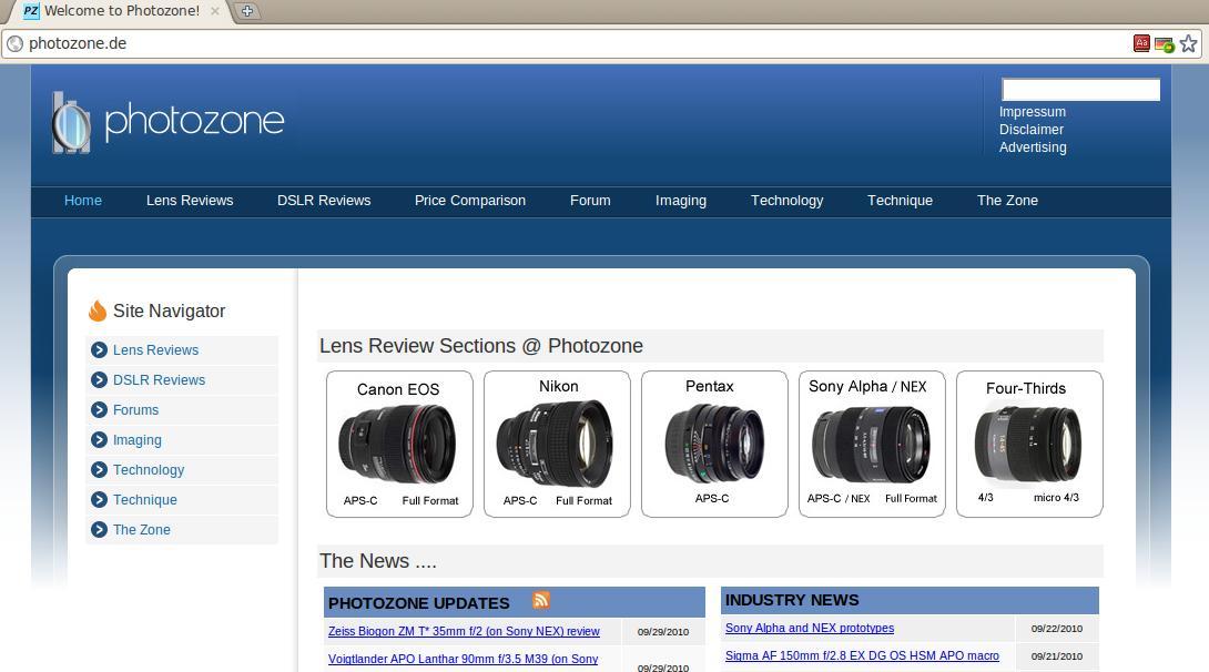 photoZone-de site