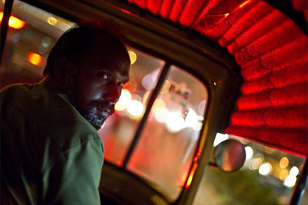 Looking back - Autorickshaw driver