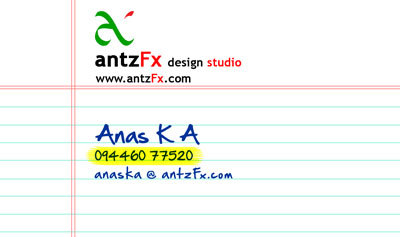 antzFx Business Card v3.0