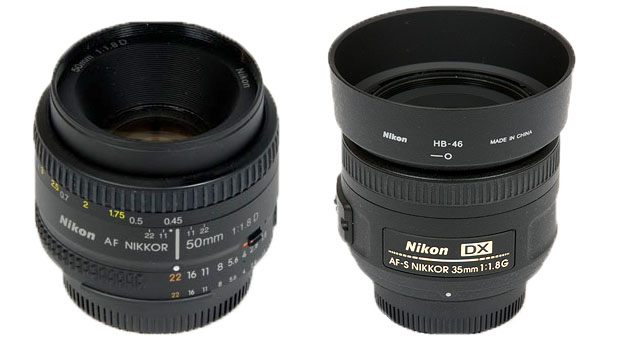35mm Vs 50mm lens for a DX body