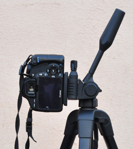 Vertical orientation in a tripod - How to