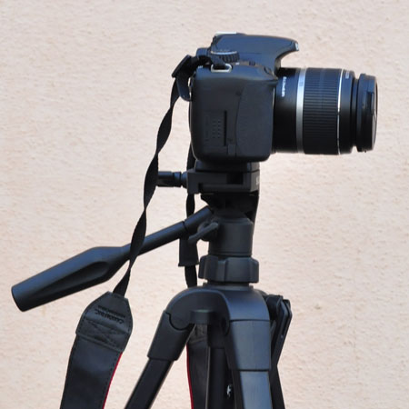 Use Tripod to hold camera horizontally