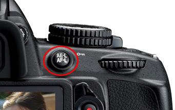 Nikon AE-L AF-L Button