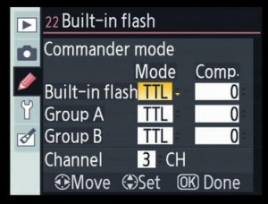 commander mode in NIkon D90