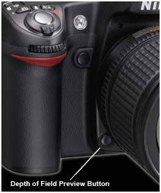 nikon d90 dof button