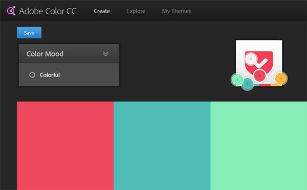 Adobe Color analyzing 'Pocket.'