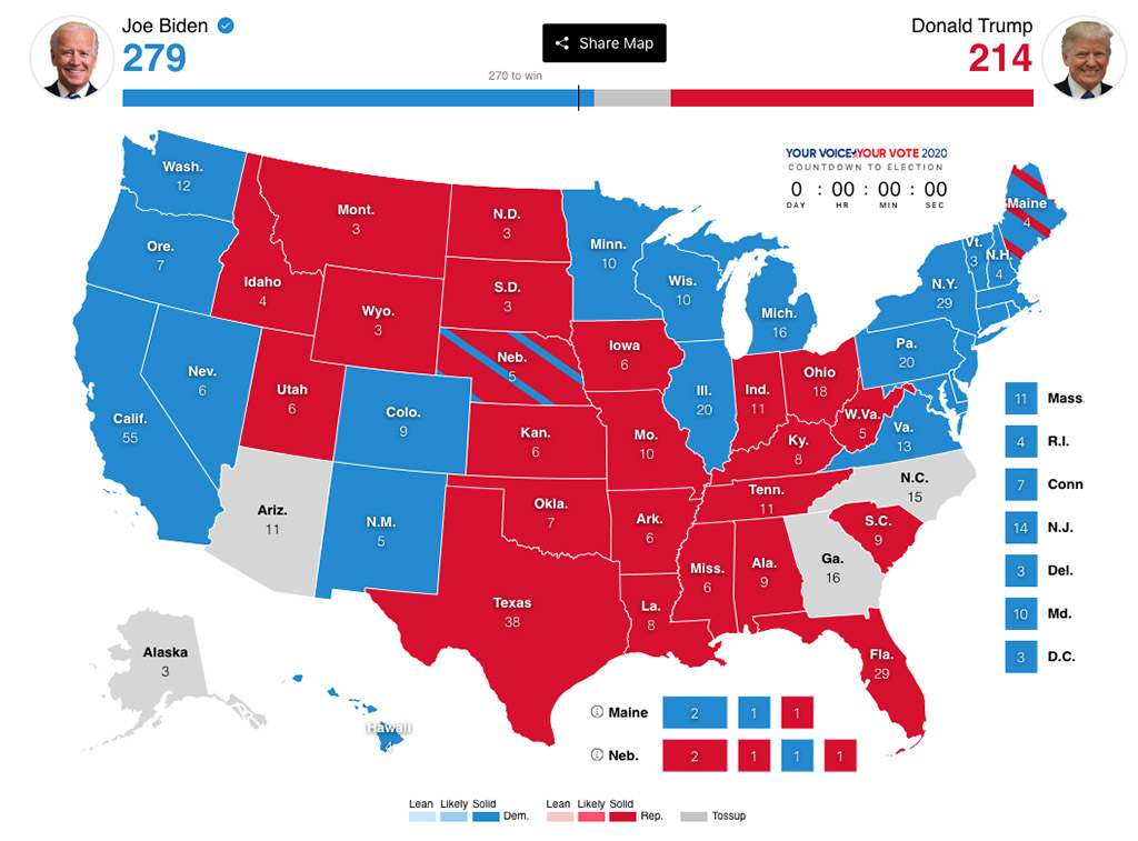 Interactive Election Map by ABC News