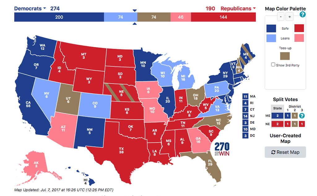 Associated Press Electoral Map Analysis