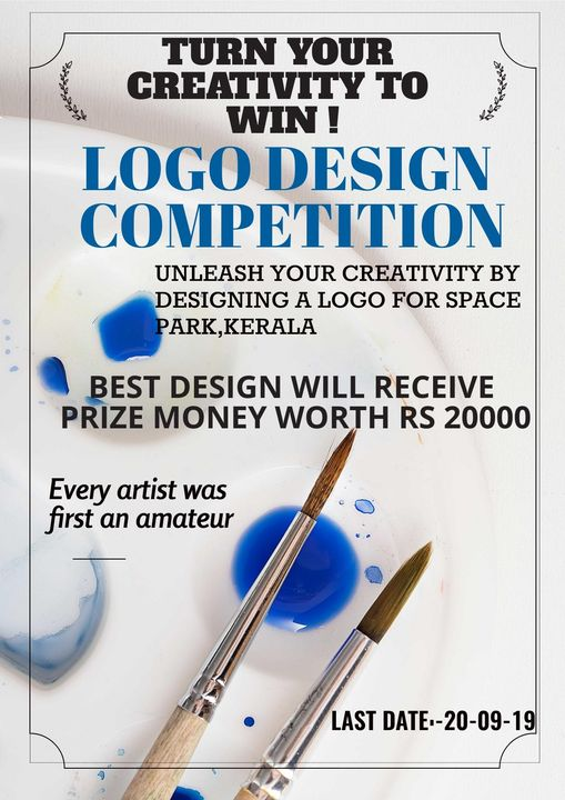 Logo competition Announcement poster in September 2019 by ICT Academy of Kerala