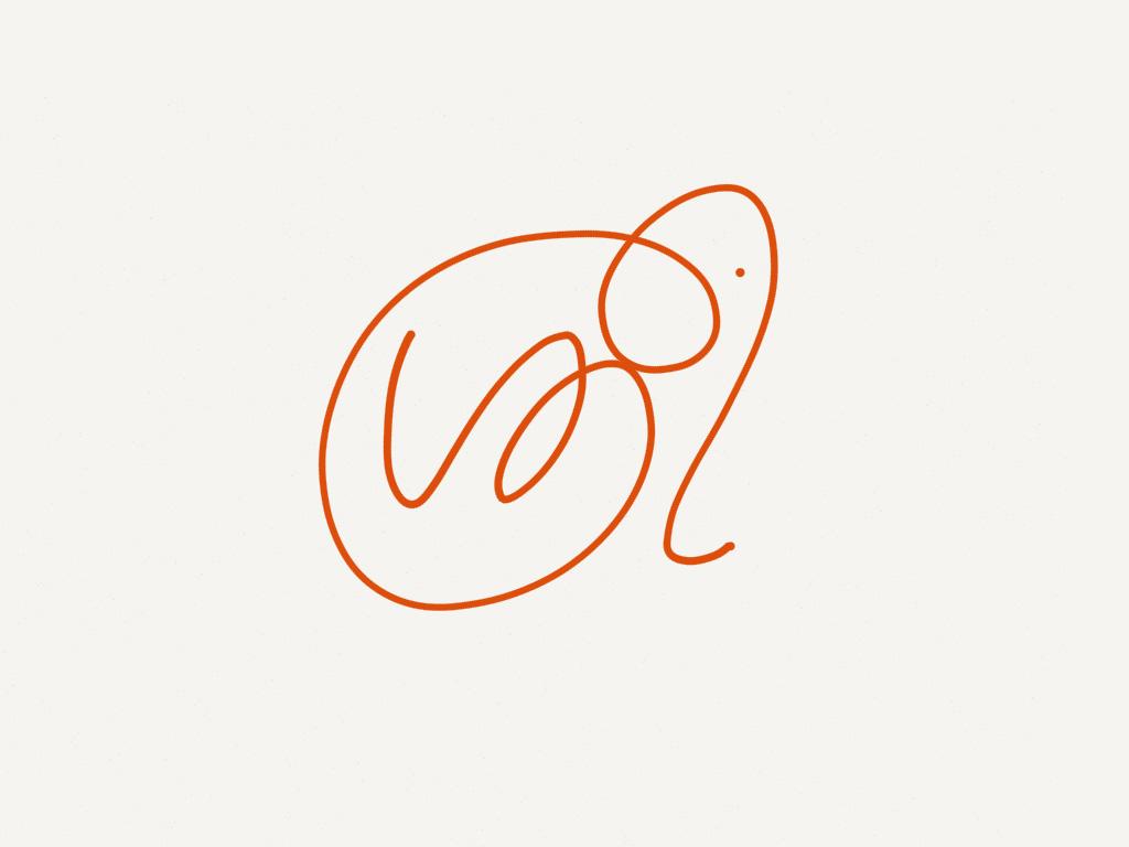 'ശ്രീ' logo doodle in iPad